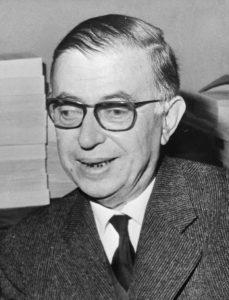Sartre, setral i den litterære retningen eksistensialisme
